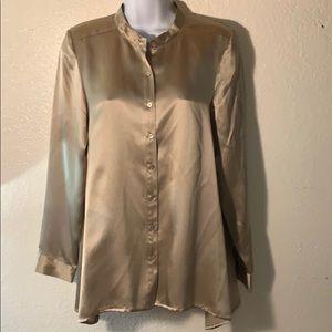Eileen Fisher Silk Button Down blouse sz PS